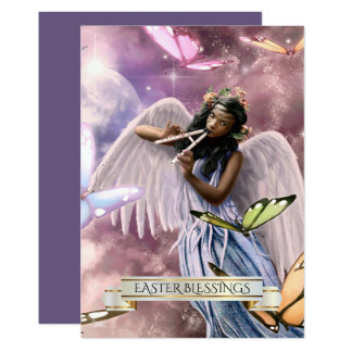 Easter Blessings.Angel with Butterflies Cards