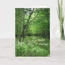Easter Blessings Card - Celebrate Easter and spring in the woods.