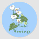 Easter Blessings Classic Round Sticker