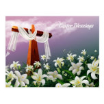 Easter Blessings.Customizable Postcards