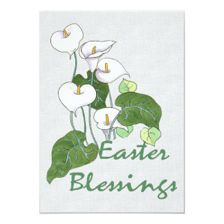 """Easter Blessings 5"""" X 7"""" Invitation Card"""