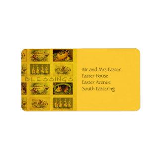 Easter Blessings Label