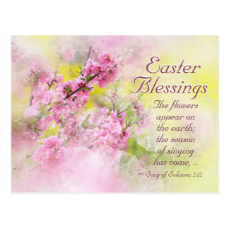 Easter Blessings Song of Solomon 2:12 Scripture Postcard