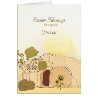 Easter Blessings to my deacon, empty tomb Card