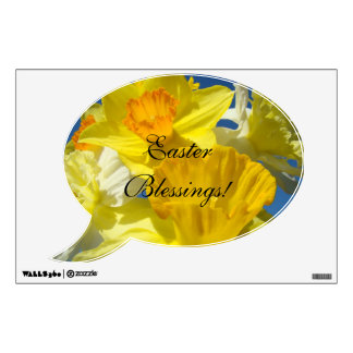 Easter Blessings! wall decal Daffodil Flowers