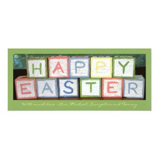 Easter Blocks Photo Holiday Card