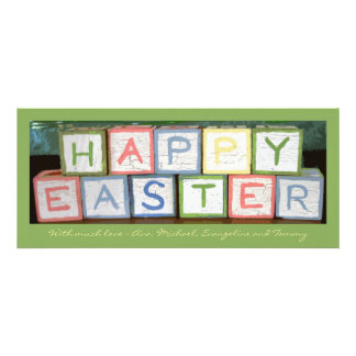 Easter Blocks Photo Holiday Card Announcements