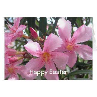 Easter Blooming pink flowers Card
