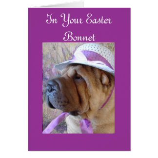 Easter Bonnet Card