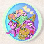 Easter Bonnet Drink Coasters