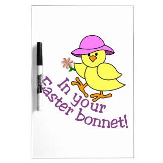 Easter Bonnet Dry-Erase Whiteboards