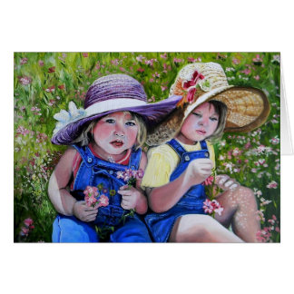 Easter Bonnets Greeting Card