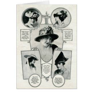 Easter Bonnets on actresses vintage 1916 images Card