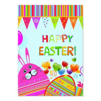Easter Bonny & Eggs Egg Hunt Party Invite