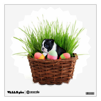 Easter Boston Terrier  dog Wall Decal