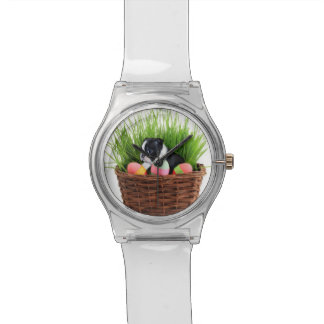 Easter Boston Terrier  dog Wristwatch