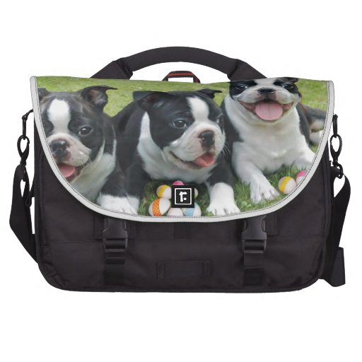 Easter Boston Terriers Commuter Bags