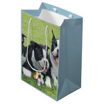 Easter Boston Terriers medium Gift Bag