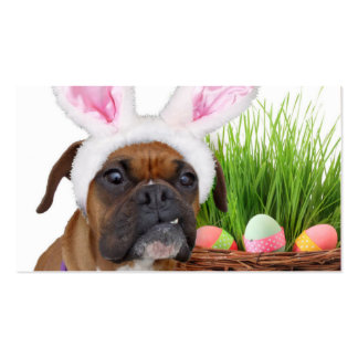 Easter boxer dog Double-Sided standard business cards (Pack of 100)