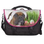 Easter boxer dog laptop bag
