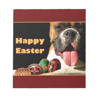 Easter Boxer Dog Notepad