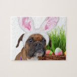 Easter boxer dog puzzles