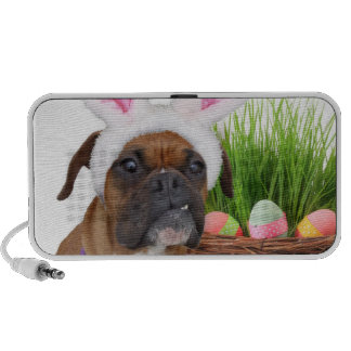 Easter boxer dog PC speakers