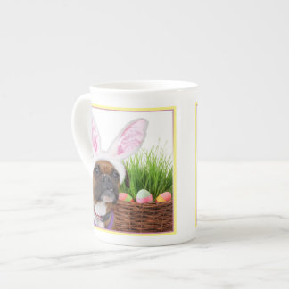 Easter boxer dog tea cup
