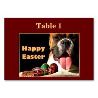 Easter Boxer Dog Table Cards
