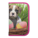 Easter boxer puppies folio planner