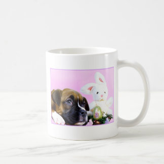 Easter boxer puppy and bunny mug
