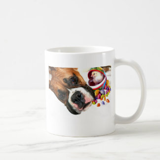 Easter Boxer puppy and Chick mug