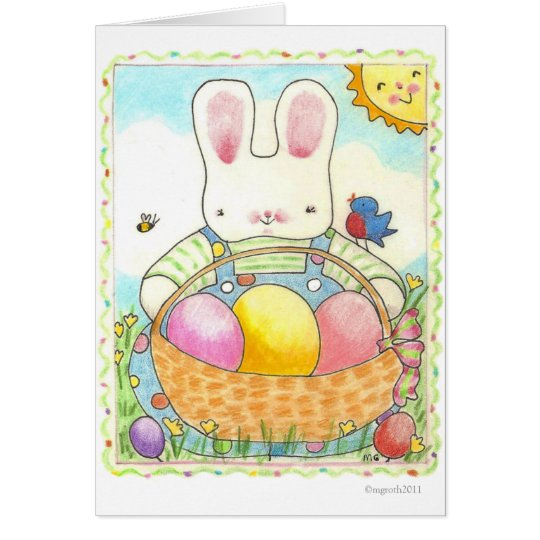 Easter boy bunny card