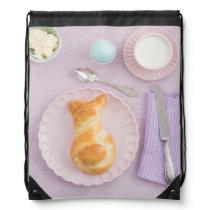 Easter breakfast drawstring backpack