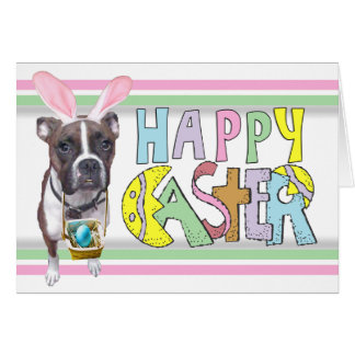 Easter Brindle Boxer Card