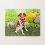 Easter - Brittany Spaniel - Elliott Jigsaw Puzzle