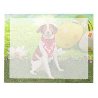 Easter - Brittany Spaniel - Elliott Memo Pad