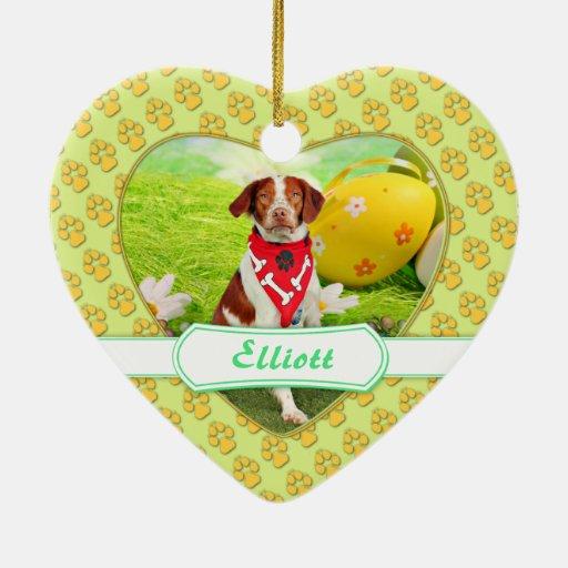 Easter - Brittany Spaniel - Elliott Christmas Ornament