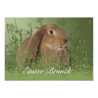 Easter Brown Rabbit Brunch Invitation