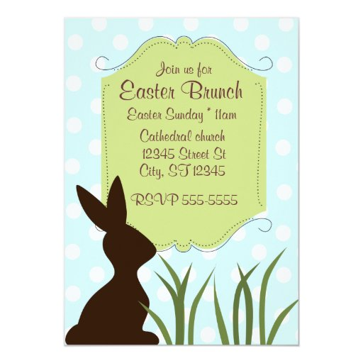 Easter Brunch 5x7 Paper Invitation Card