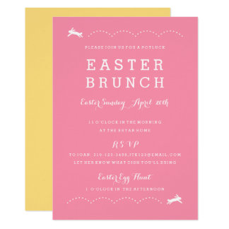 Easter brunch invitations announcements zazzle easter brunch bunny easter party invitation stopboris Image collections