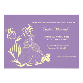 Easter brunch custom invitation