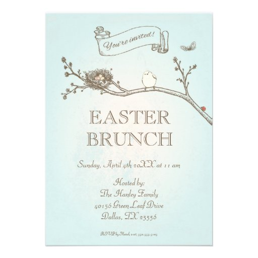 Easter Brunch Invitation (front side)