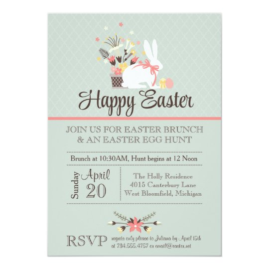 easter brunch invitation easter egg hunt invite zazzle com