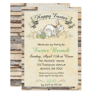 Easter Brunch Invitation-Rabbit Card
