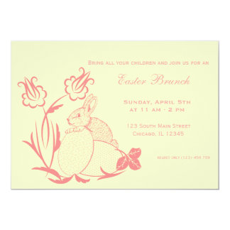Easter brunch personalized announcements