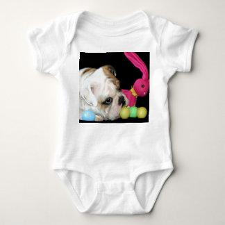 Easter Bulldog baby shirt