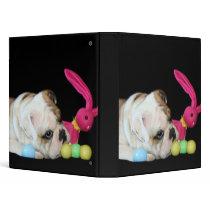 Easter bulldog binder