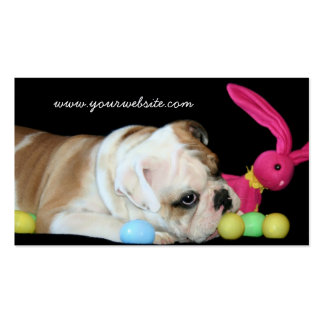Easter Bulldog business cards