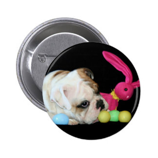Easter Bulldog button